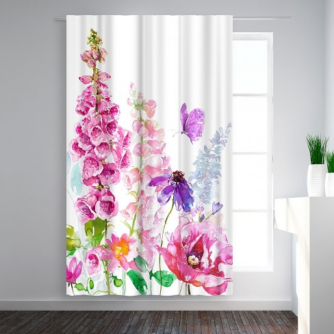 Americanflat Foxglove Floral By Harrison Ripley Blackout Rod Pocket Single Curtain Panel 50x84 Target
