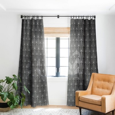 Holli Zollinger Sun Tile Charcoal Single Panel Blackout Window Curtain - Deny Designs