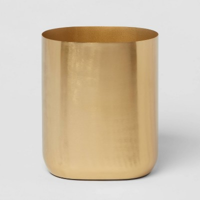 Brushed Brass Waste Can Gold - Threshold™