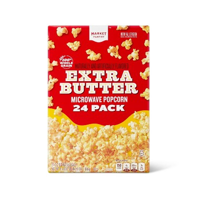 Extra Butter Microwave Popcorn - 64.8oz/24ct - Market Pantry™