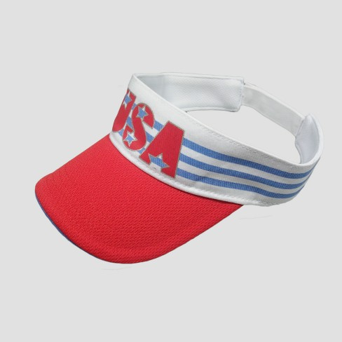 Baby Boys' USA Visor Hat - Cat & Jack™ Red 12-24M - image 1 of 2