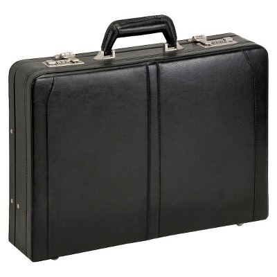 "Solo Classic Leather 16"" Attache Briefcase - Black"