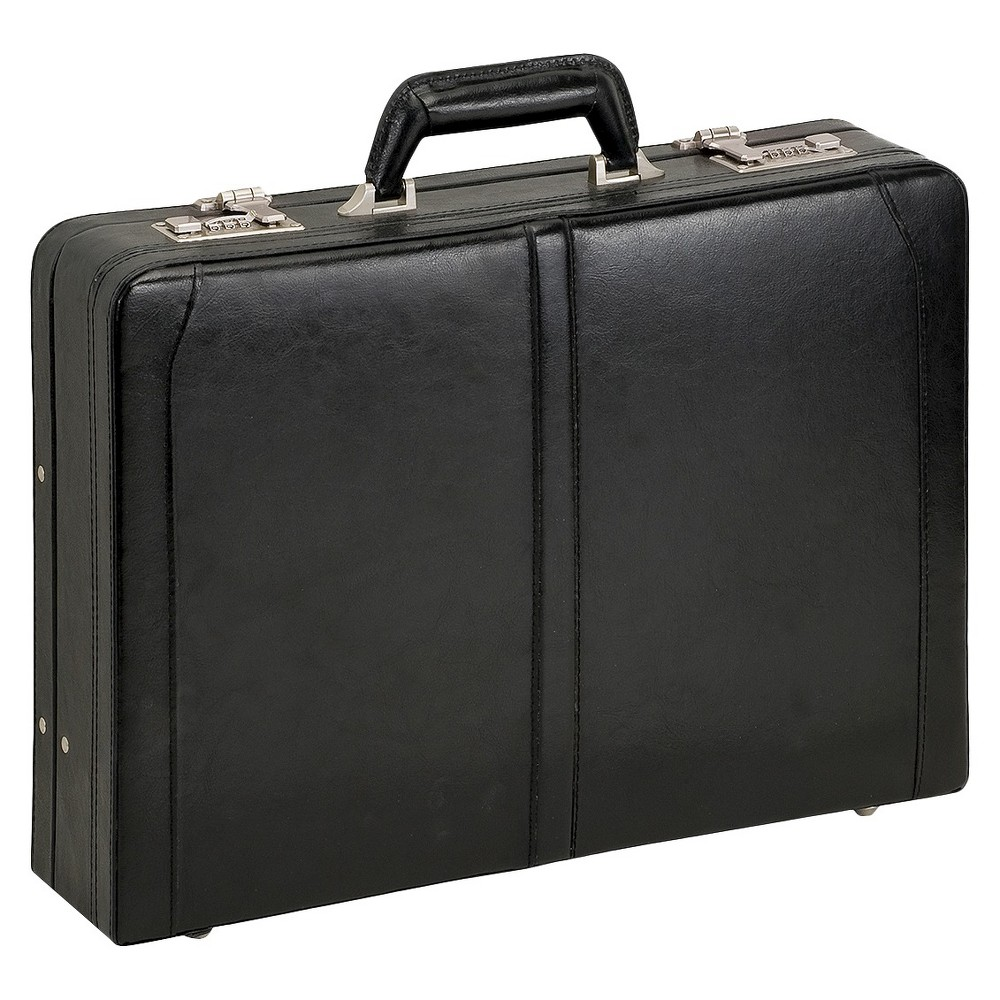 "Image of ""Solo Classic Leather 16"""" Attache Briefcase - Black"""