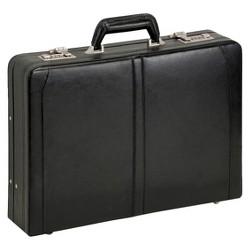 """Solo Classic Leather 16"""" Attache Briefcase - Black"""