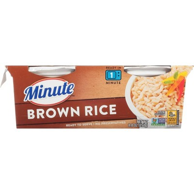 Minute Rice Gluten Free to Serve Fully Cooked Brown Rice Cups - 8.8oz/2ct