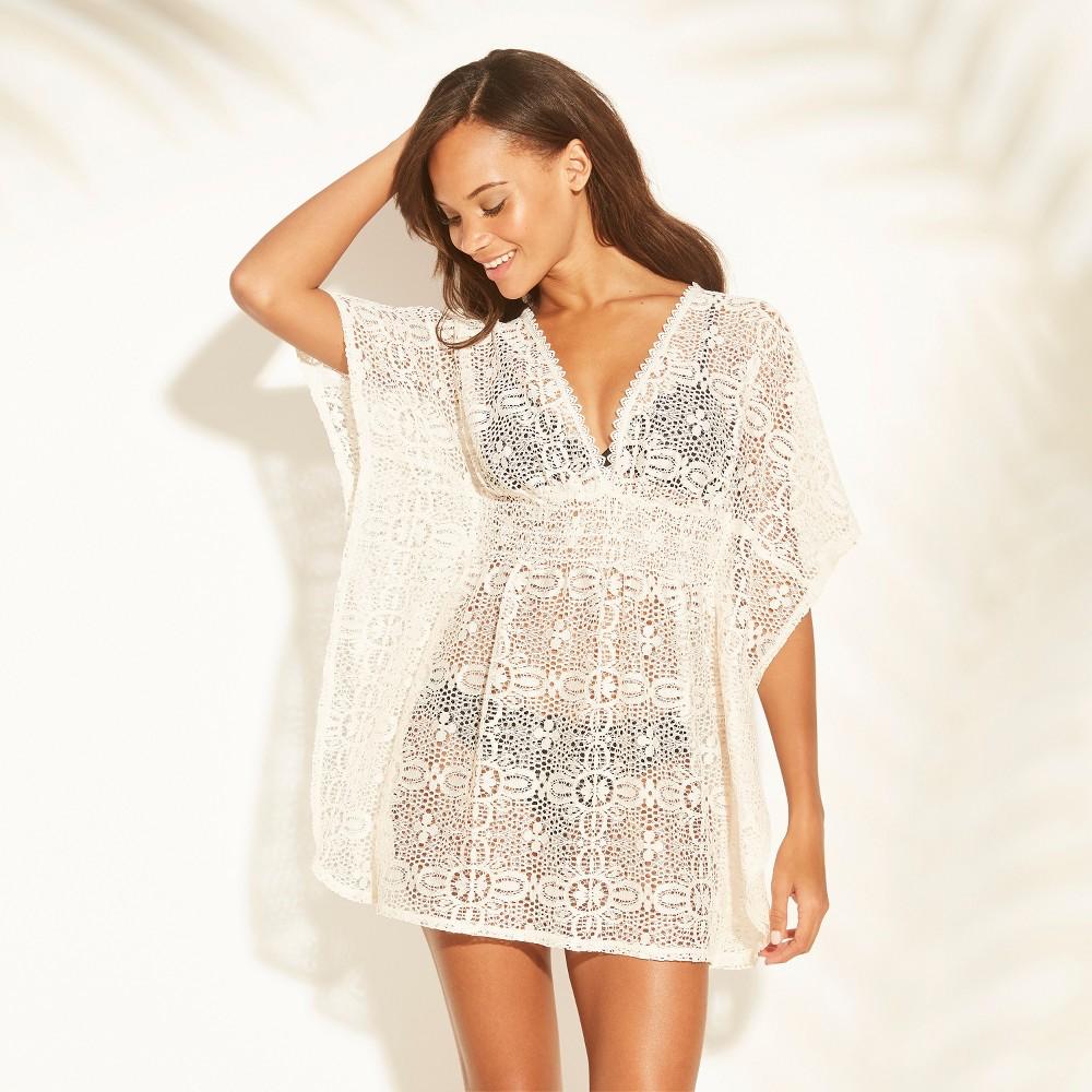 Women's Crochet Cut Out Back Cover Up Dress - Xhilaration White L