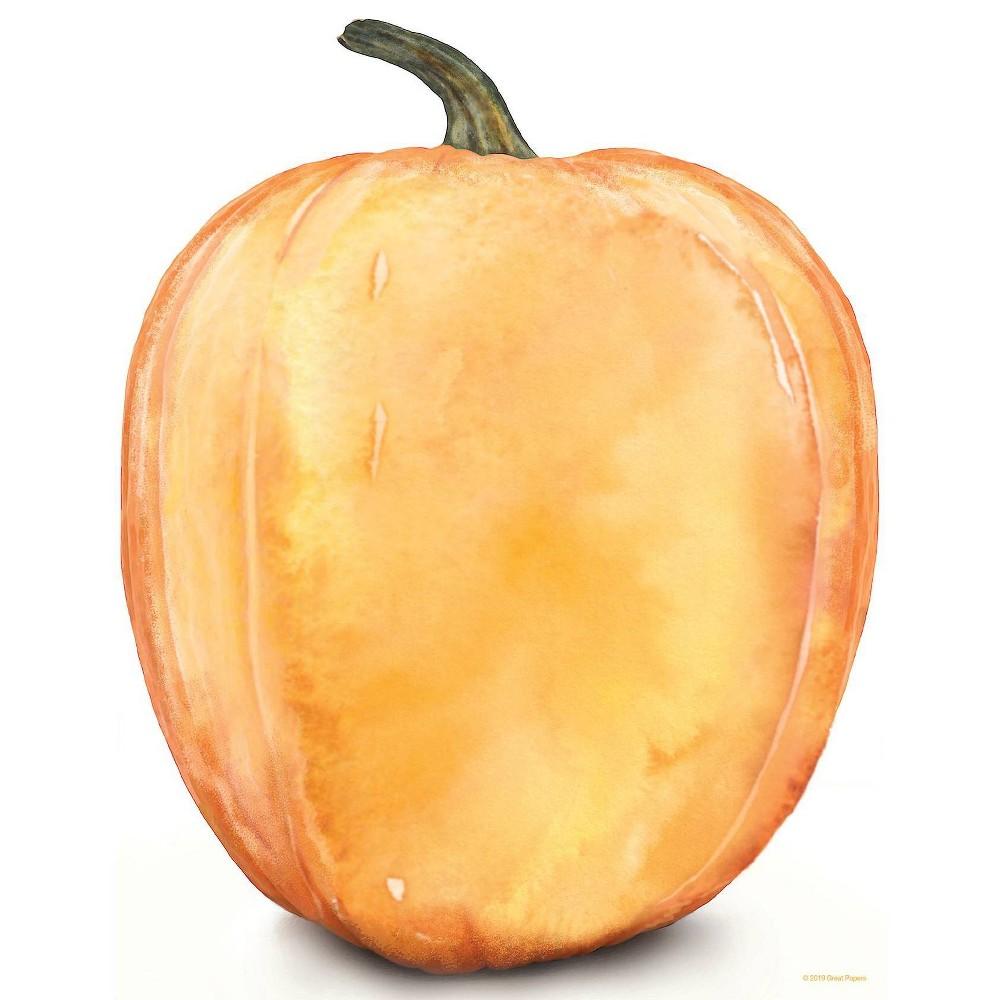 Image of 80ct Big Pumpkin Letterhead, Orange