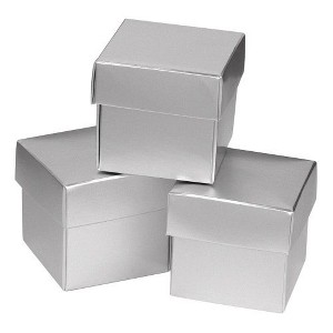 25ct Silver Shimmer Wedding Favor Box