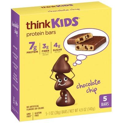 think! Kids Chocolate Chip Bars - 5ct
