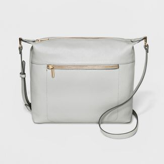 Soft Crossbody Bag - A New Day™ Pale Gray