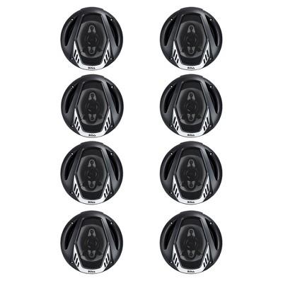 "BOSS NX654 6.5"" 400W 4-Way Car Audio Coaxial Speakers Stereo, Black (8 Speakers)"