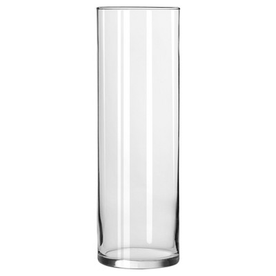 Clear Cylinder Vase (9.5 )- Libbey