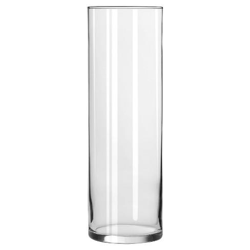 Clear Cylinder Vase (9.5