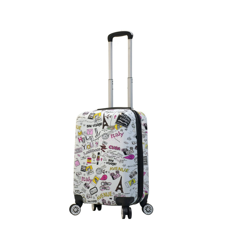 "Image of ""Mia Viaggi ITALY 20"""" Hardside Carry On Suitcase - Vintage Traveler, MultiColored"""