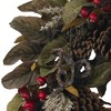 """24"""" Pinecone, Berry & Feather Wreath - Nearly Natural - image 3 of 3"""