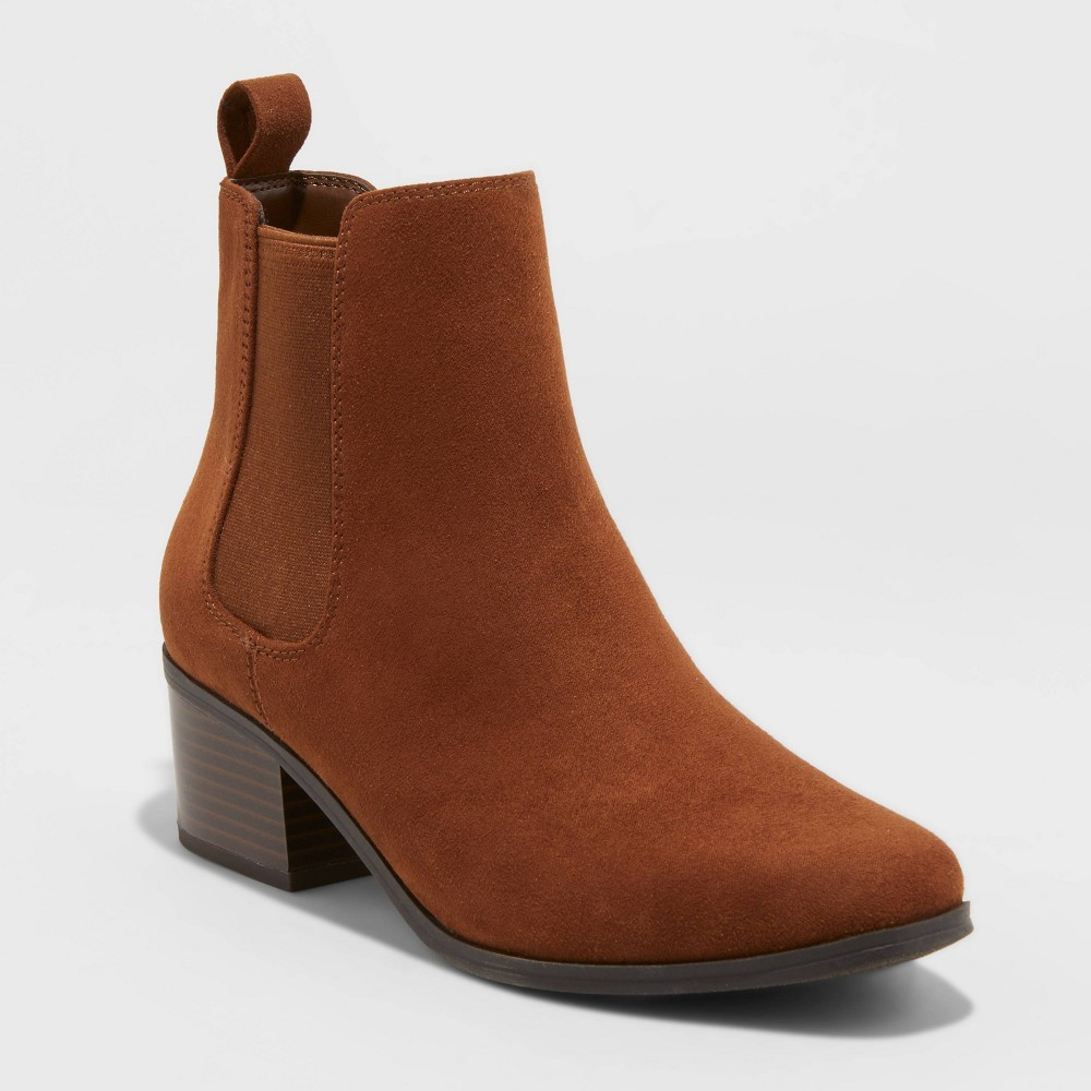 Women 39 S Ellie Wide Width Chelsea Boots A New Day 8482 Cognac 9 5w