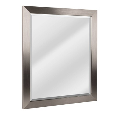 "26"" x 32"" Modern Brushed Frame Mirror Nickel - Head West"
