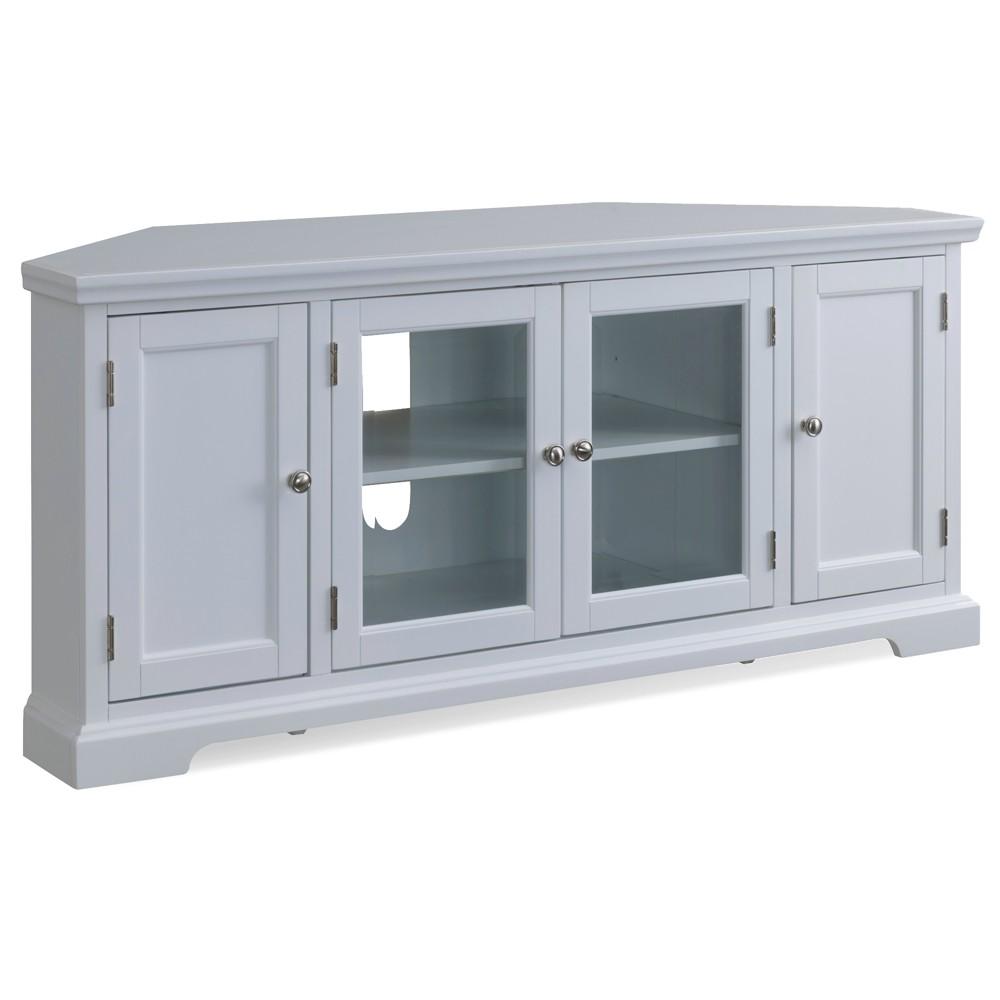 57 Corner TV Console White - Leick Home