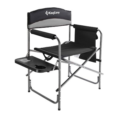 KingCamp Compact Camping Folding Chair with Side Table and Storage Pocket