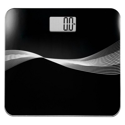 Robust High Capacity Digital Bathroom Scale Black - Optima Home Scales
