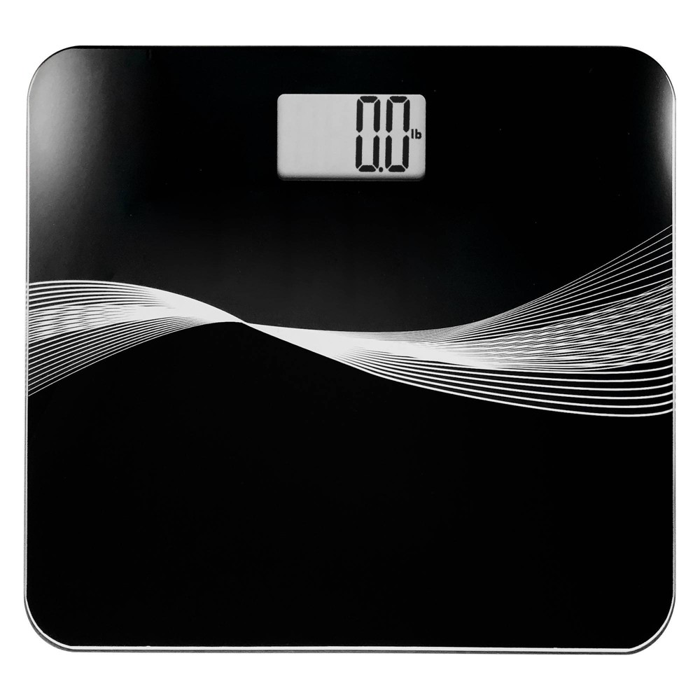 Image of Robust High Capacity Digital Bathroom Scale Black - Optima Home Scales