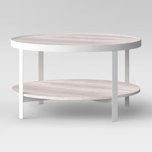 Riehl Metal Round Coffee Table White Project 62