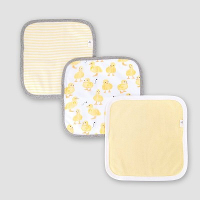 Burt's Bees Baby® Baby Girls' Set of 3 Little Ducks Washcloths - Yellow