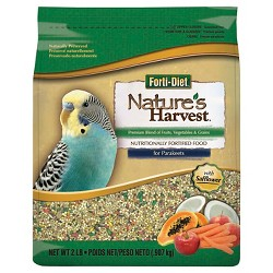 Kaytee Nature's Harvest Parakeet Food - 2lbs