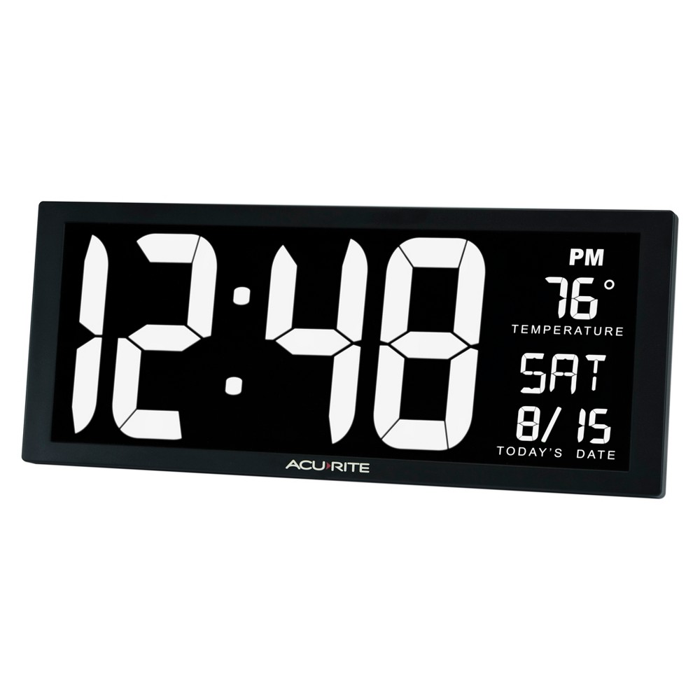Image of 14.5 Digital Clock with Indoor Temperature White - AcuRite