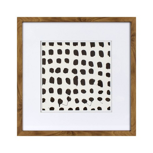 Framed Abstract Brushstroke Wall Art 18x18 - Project 62™ : Target