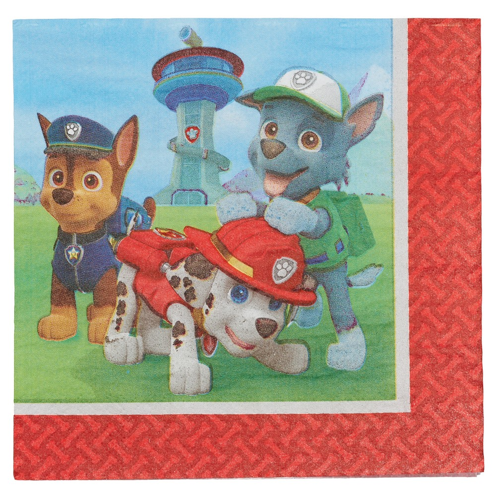 Image of 16 ct Paw Patrol Napkin, disposable napkins