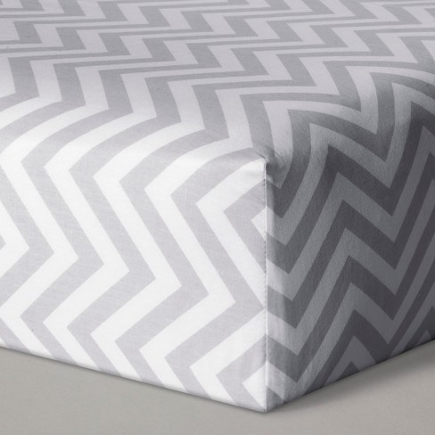 Fitted Crib Sheet Chevron - Cloud Island™ Gray - image 1 of 1