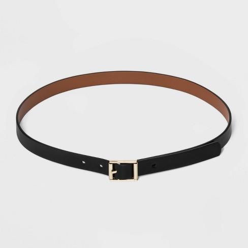 Women's Reversible Belt - A New Day™ Black/Cognac - image 1 of 3