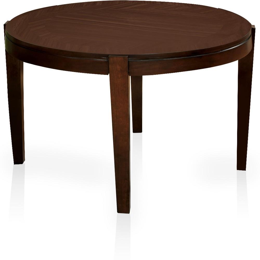 Johanson Simple Round Dining Table Walnut - Sun & Pine