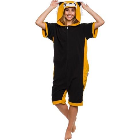 Funziez! Red Panda Women's Short Sleeve Novelty Romper - image 1 of 4