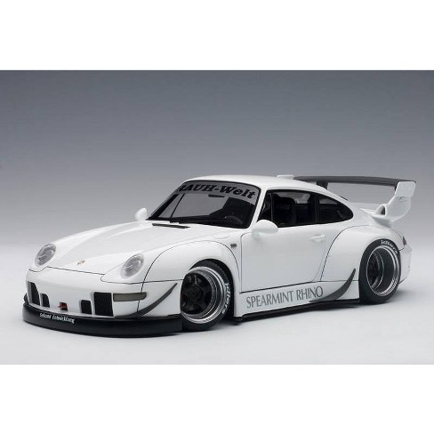 Porsche RWB 993 White with Gun Gray Wheels 1/18 Model Car by Autoart - image 1 of 4