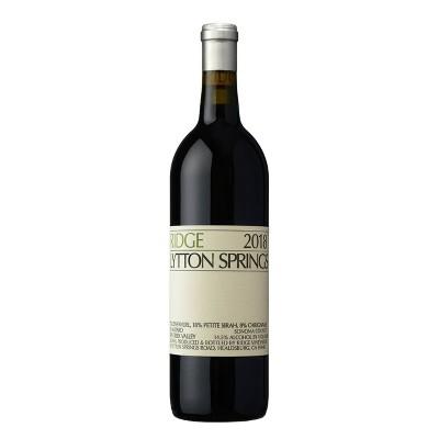 Ridge Lytton Springs Zinfandel Red Wine - 750ml Bottle