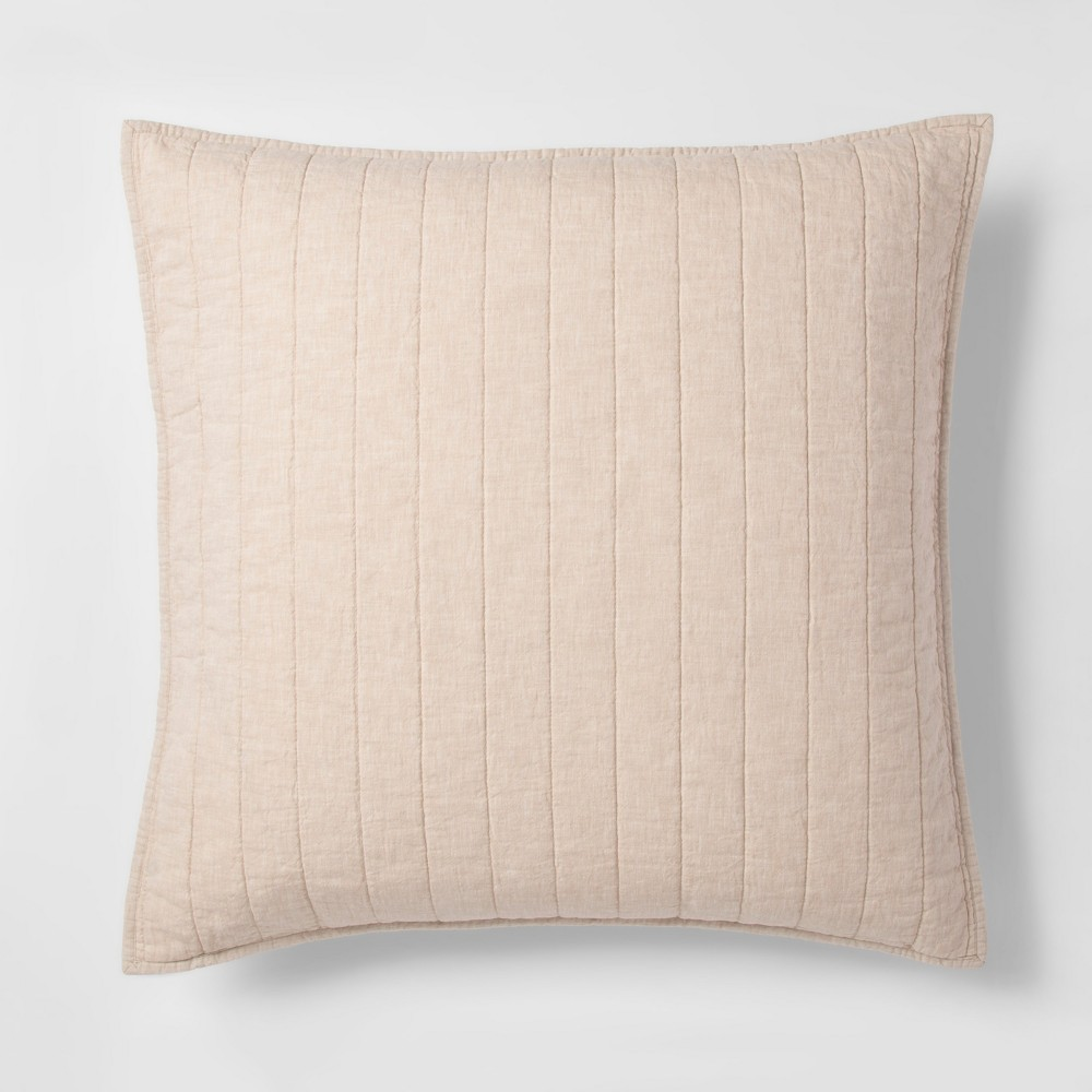 Brown Chambray Linen Blend Sham (Euro) - Threshold