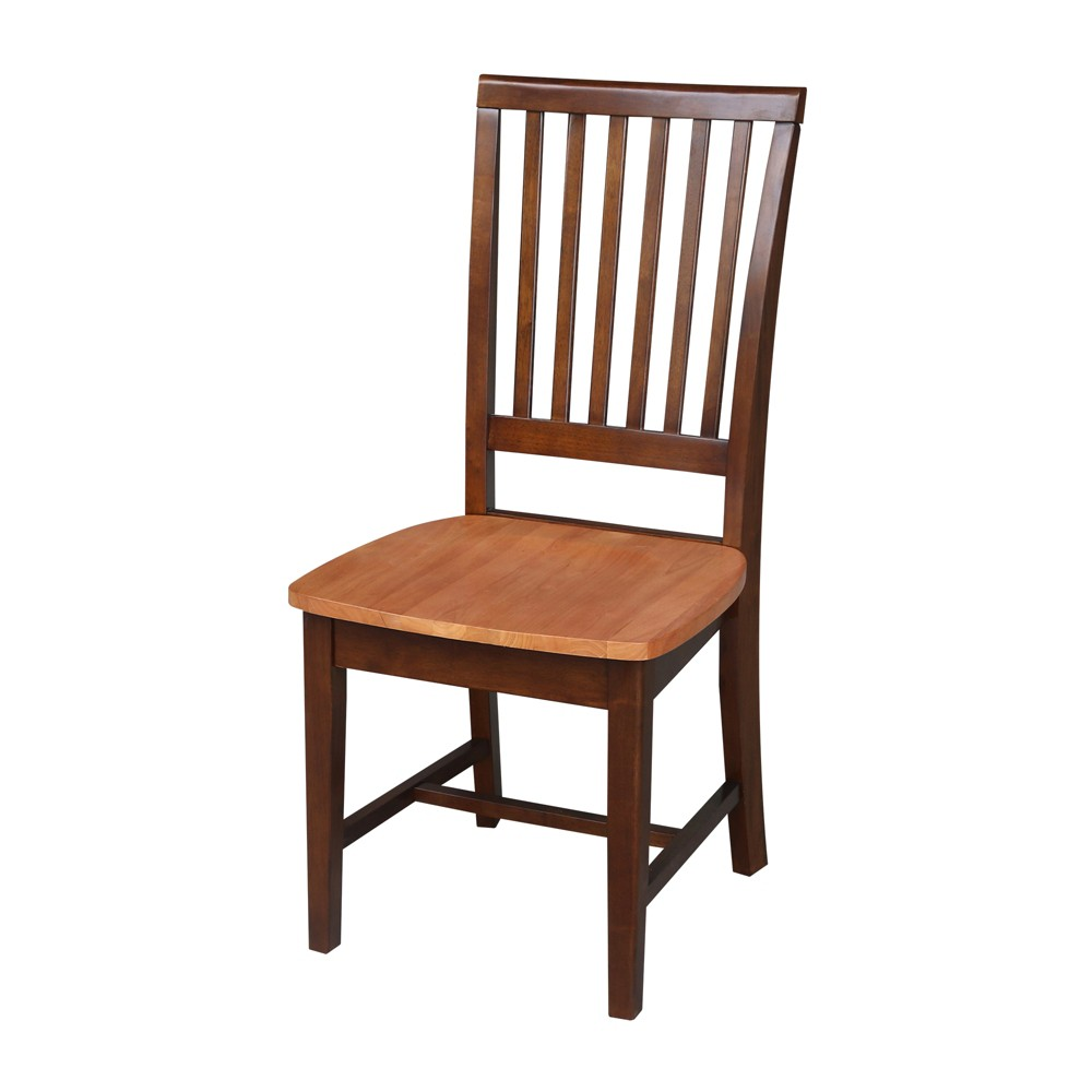 Mission Side Chair Cinnamon/Espresso (Red/Brown) - International Concepts