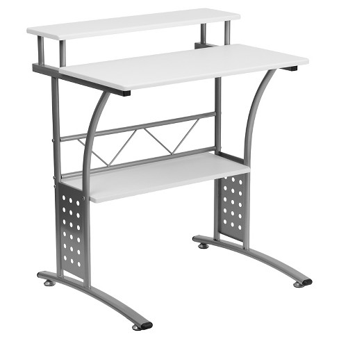 Clifton White Computer Desk - Flash Furniture - image 1 of 2