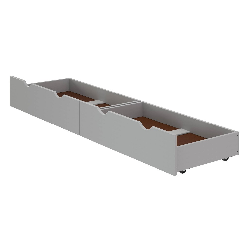 Set of 2 Underbed Storage Drawers Dove Gray - Alaterre Furniture