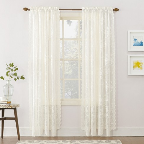Alison Lace Sheer Rod Pocket Curtain Panel – No. 918 - image 1 of 3