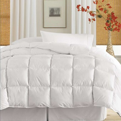 Blue Ridge Deluxe Cotton Twill Cover Down Alternative Soft Cozy Comforter, 233 Thread Count - White