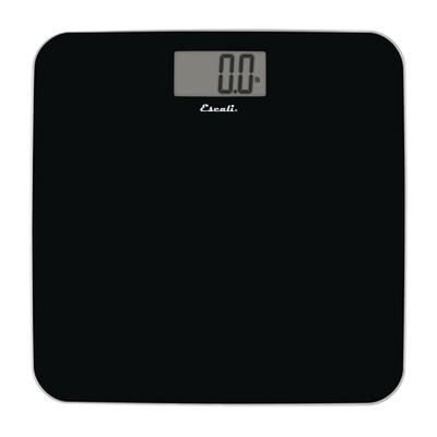Slim Glass Bathroom Scale Black - Escali