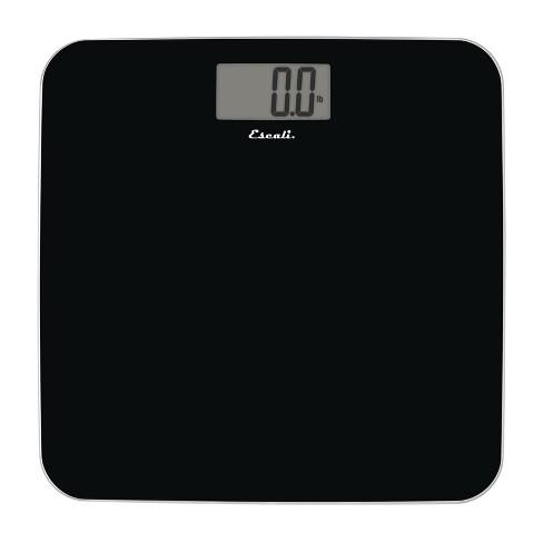 Slim Glass Bathroom Scale Black - Escali - image 1 of 4
