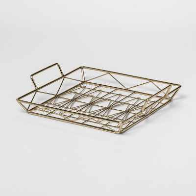 Decorative Geometric Tray Large - Gold - Project 62™