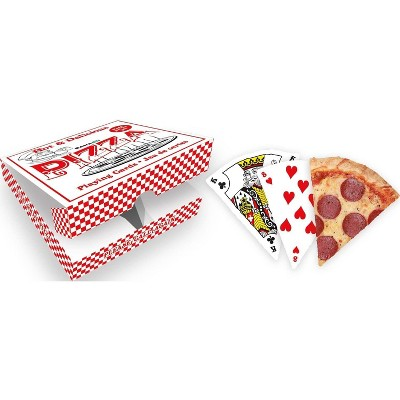 Gamago Pizza Slice-Shaped Playing Cards | 52 Card Deck + 2 Jokers