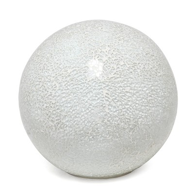 1 Light Mosaic Stone Ball Table Lamp White - Simple Designs