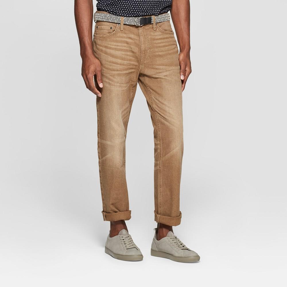 Men 39 S Straight Fit Jeans Goodfellow 38 Co 8482 Vintage Khaki 40x34