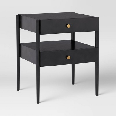 2 Drawer Nightstand Charcoal Gray - Project 62™